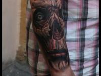 Татуировка мертвец на предплечье