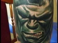 Татуировка лицо монстра