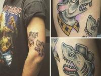 Татуировка злых крыс на руке