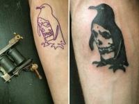 Татуировка пингвина на руке