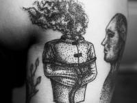 Татуировка дух на голеностопе