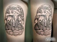 Татуировка 3 слона держат Землю