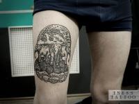 Татуировка земля на 3 слонах