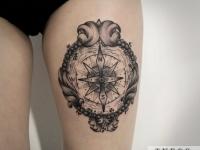 Татуировка щит-компас