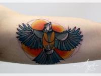 Татуировка птица