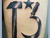 Татуировка серп и молот