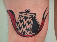 Татуировка кошелек