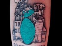 Татуировка город