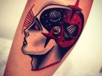 Татуировка космос в голове