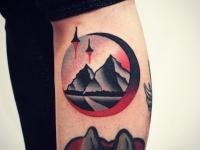 Татуировка дорога в горы