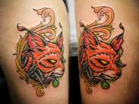 Татуировка голова лиса