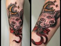 Татуировка голова кота