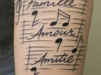 Татуировка ноты