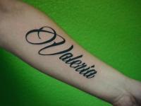Татуировка имя на предплечье