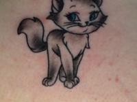 Татуировка котенок
