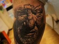 Татуировка голова мужчины