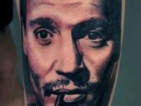 Татуировка портрет с сигаретой
