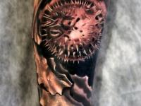 Татуировка морской еж