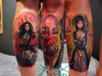 Татуировка фигуры девушек