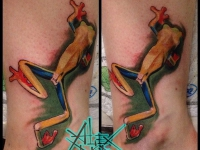 Татуировка лягушка