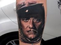 Татуировка Остап Бендер на предплечье
