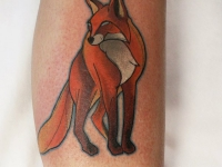 Татуировка красивая лиса