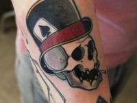Татуировка череп джокера
