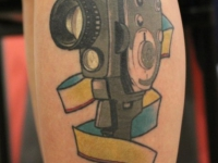 Татуировка старая видеокамера