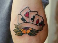 Татуировка карты на предплечье