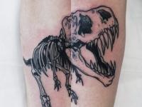 Татуировка динозавр