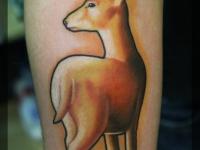 Татуировка олень на предплечье