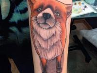 Татуировка рыжий пёс