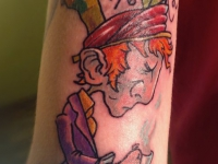 Татуировка человек с кофе