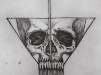 Татуировка череп на спине