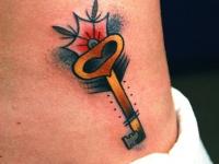 Татуировка ключик