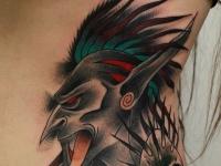Татуировка гоблин на боку