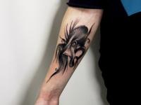 Татуировка осьминог на руке