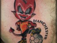 Татуировка дьявол на груди