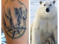 Татуировка белый медведь