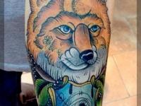 Татуировка лисица