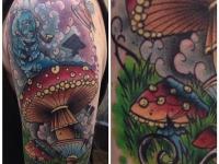 Татуировка гриб