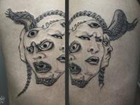 Татуировка многоликового божества