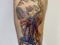 Татуировка кровеносная система на предплечье