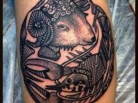 Татуировка овен и рак
