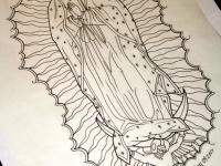 Татуировка Дева Мария