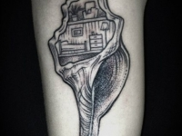 Татуировка ракушка