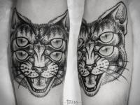 Татуировка кот