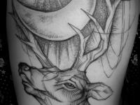 Татуировка олень