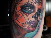 Татуировка голова женщины