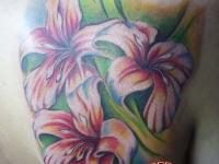 Татуировка лилии на плече